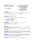 Đề thi tuyển sinh lớp 10 THPT chuyên môn Toán năm 2008 - 2009