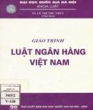 Giáo trình Luật ngân hàng Việt Nam: Phần 1