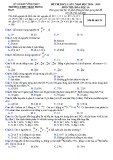 Đề KSCL Hóa học 10 năm 2018-2019 có đáp án - Trường THPT Trần Hưng Đạo