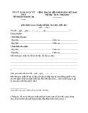 Mẫu Biên bản bàn giao hồ sơ, tài liệu, dữ liệu