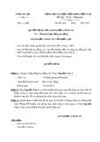 Mẫu Quyết định thanh lí hợp đồng lao động