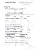 Đề thi khảo sát môn Toán lớp 10 năm 2018-2019 lần 3 - THPT Nguyễn Viết Xuân - Mã đề 306