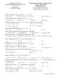 Đề thi khảo sát môn Toán lớp 10 năm 2018-2019 lần 3 - THPT Nguyễn Viết Xuân - Mã đề 207