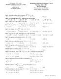 Đề thi khảo sát môn Toán lớp 10 năm 2018-2019 lần 3 - THPT Nguyễn Viết Xuân - Mã đề 101