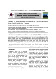 Presence of trace elements in sediment of Can Gio mangrove forest, Ho Chi Minh city, Vietnam