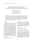 Hoàn thiện quy chế pháp lý cho tổ chức, cá nhân nước ngoài thuê rừng, đất rừng tại Việt Nam