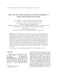 Khảo sát cấu trúc dẫn xuất Brom của phân tử Bisphenol A bằng lý thuyết phiếm hàm mật độ