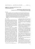 Nghiên cứu sản xuất trà túi lọc lá vối (Cleistolyx operculatus Roxb)