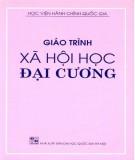 Giáo trình Xã hội học đại cương: Phần 1 - NXB Đại học Quốc gia Hà Nội