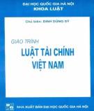 Giáo trình Luật tài chính Việt Nam: Phần 1