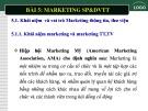 Bải giảng Sản phẩm và dịch vụ thông tin thư viện: Chương 5 - Marketing sản phẩm và dịch vụ thông tin thư viện