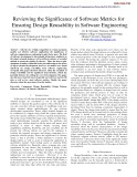 Reviewing the significance of software metrics for ensuring design reusability in software engineering
