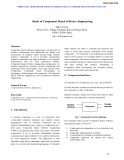 Study of component based software engineering
