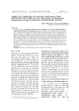 Nghiên cứu ảnh hưởng của mật độ và phân bón lá đến sinh trưởng phát triển của lan Thạch hộc tía (Dendrobium officinale Kimura et Migo) tại Phia Đén, Nguyên Bình, Cao Bằng
