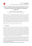 Impact of risk factors on business results of life insurance products in insurance companies in Hue city