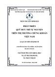 Luận án Tiến sĩ Kinh tế: Phát triển quỹ hưu trí tự nguyện trên thị trường chứng khoán Việt Nam