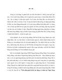 Tóm tắt Luận văn Thạc sĩ Ngân hàng: Giải pháp phát triển tín dụng cá nhân tại Ngân hàng  TMCP Ngoại thương Việt Nam - chi nhánh Đồng Tháp