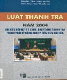 Đổi mới tổ chức, hoạt động thanh tra trong thời kỳ công nghiệp hóa, hiện đại hóa trong Luật thanh tra năm 2004: Phần 1