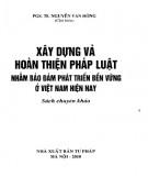 Phát triển bền vững ở Việt Nam dựa trên công tác xây dựng và hoàn thiện pháp luật: Phần 1