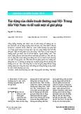 Tác động của chiến tranh thương mại Mỹ - Trung đến Việt Nam và đề xuất một số giải pháp