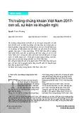 Thị trường chứng khoán Việt Nam 2017 - con số, sự kiện và khuyến nghị