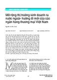 Mở rộng thị trường kinh doanh ra nước ngoài - hướng đi mới của các ngân hàng thương mại Việt Nam