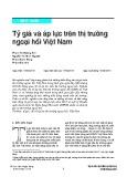 Tỷ giá và áp lực trên thị trường ngoại hối Việt Nam