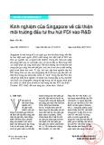 Kinh nghiệm của Singapore về cải thiện môi trường đầu tư thu hút FDI vào R&D