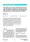 Tác động của cơ cấu vốn đến lợi nhuận của các doanh nghiệp trên Sở Giao dịch Chứng khoán Thành phố Hồ Chí Minh