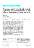 Thực trạng quản lý rủi ro lãi suất trong sổ ngân hàng theo Basel 2 và những đề xuất cho các ngân hàng thương mại Việt Nam