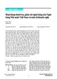 Hoạt động thanh tra, giám sát ngân hàng của Ngân hàng Nhà nước Việt Nam và một số khuyến nghị