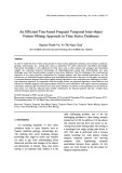 An efficient tree based frequent temporal inter object pattern mining approach in time series databases
