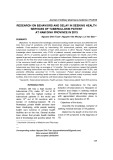 Research on behaviors and delay in seeking health services of tuberculosis patient at Nam Dinh province in 2013