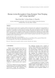 Human action recognition using dynamic time warping and voting algorithm