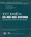 Xã hội học - Từ điển Oxford: Phần 1