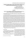 Nghiên cứu biện pháp kỹ thuật tổng hợp phát triển lúa lai ở vùng Duyên hải Nam Trung Bộ và Tây Nguyên