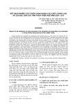 Kết quả nghiên cứu tuyển chọn giống lúa chất lượng cao và lúa đặc sản cho tỉnh Thừa Thiên Huế năm 2009-2011