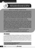 Nghiên cứu ảnh hưởng của một số thông số công nghệ đến cường độ nén gạch bê tông