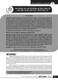 Ảnh hưởng của chế độ dưỡng hộ đến cường độ chịu nén của bê tông chất lượng siêu cao