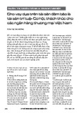 Cho vay dựa trên tài sản đảm bảo là tài sản trí tuệ - cơ hội, thách thức cho các ngân hàng thương mại Việt Nam