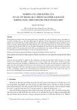 Nghiên cứu ảnh hưởng của áp lực ép trong quá trình tạo hình gạch đất không nung theo phương pháp ép bán khô