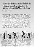 Hoàn thiện công tác bảo hiểm tài sản công Việt Nam hiện nay