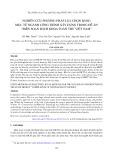 Nghiên cứu phương pháp lựa chọn bảng mục từ ngành công trình xây dựng trong đề án biên soạn bách khoa toàn thư Việt Nam