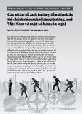 Các nhân tố ảnh hưởng đến đòn bẩy tài chính của ngân hàng thương mại Việt Nam và một số khuyến nghị