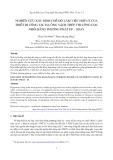 Nghiên cứu xác định chế độ làm việc hợp lý của thiết bị công tác hạ ống vách thép thi công cọc nhồi bằng phương pháp ép – xoay