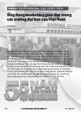 Ứng dụng marketing giáo dục trong các trường đại học của Việt Nam