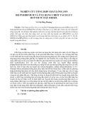 Nghiên cứu tổng hợp chất lỏng ion họ pyridinium và ứng dụng chiết tách lưu huỳnh từ dầu diesel