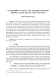 Giá trị biểu cảm của các tín hiệu thẩm mĩ trong ca dao Quảng Nam - Đà Nẵng