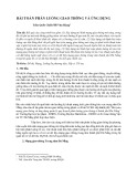 Bài toán phân luồng giao thông và ứng dụng
