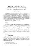 Khảo sát vai trò của ion Ce3+ đối với sự phát quang của ion Tb3+ trong vật liệu KMgSO4Cl:Ce3, Tb3